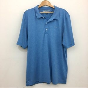 Greg Norman polo play dry shirt blue size XL